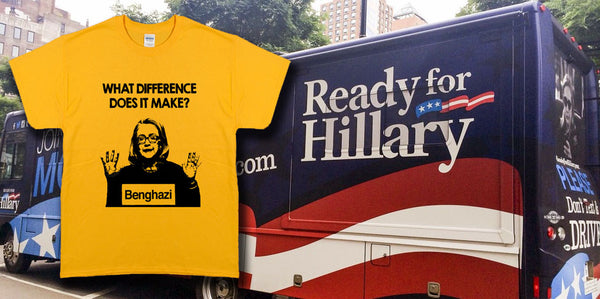 Ready For Hillary Tee Shirt Benghazi What Difference Does It Make? T-Shirt 2016