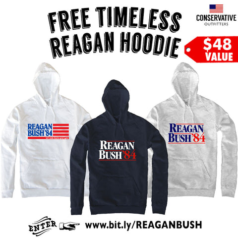 Reagan Bush Hoodie - Conservative Outfitters