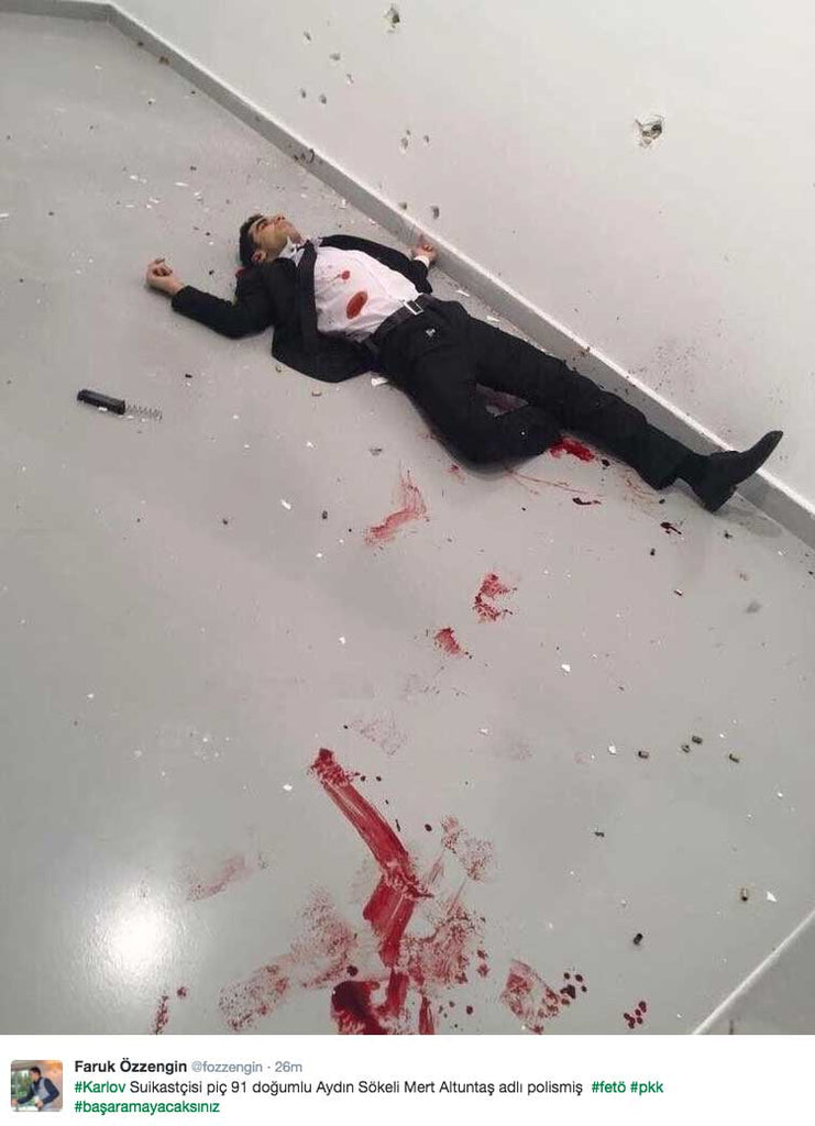 Russian Ambassador assassin photo