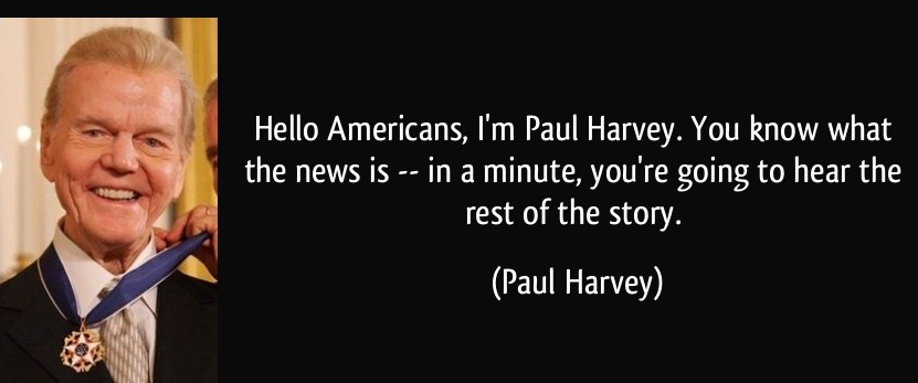 "Hello Americans I'm Paul Harvey: ""Policeman"""