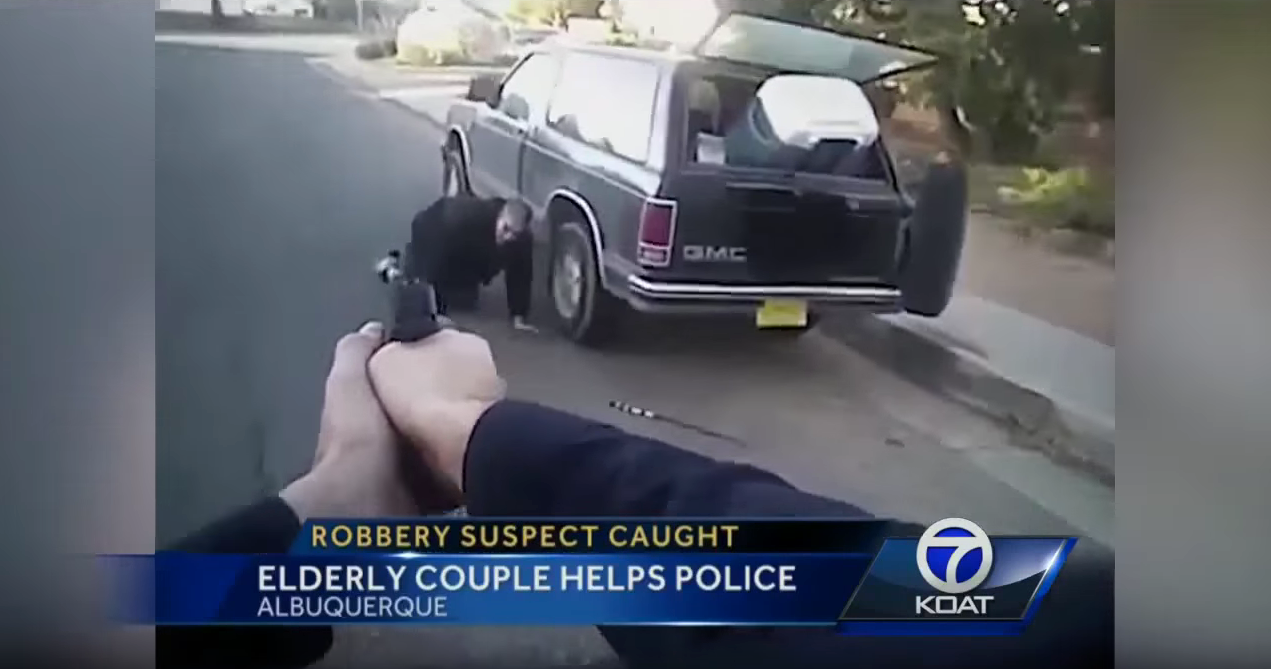 VIDEO: Elderly Couple Hold Burglar At Gunpoint Until Police Arrive
