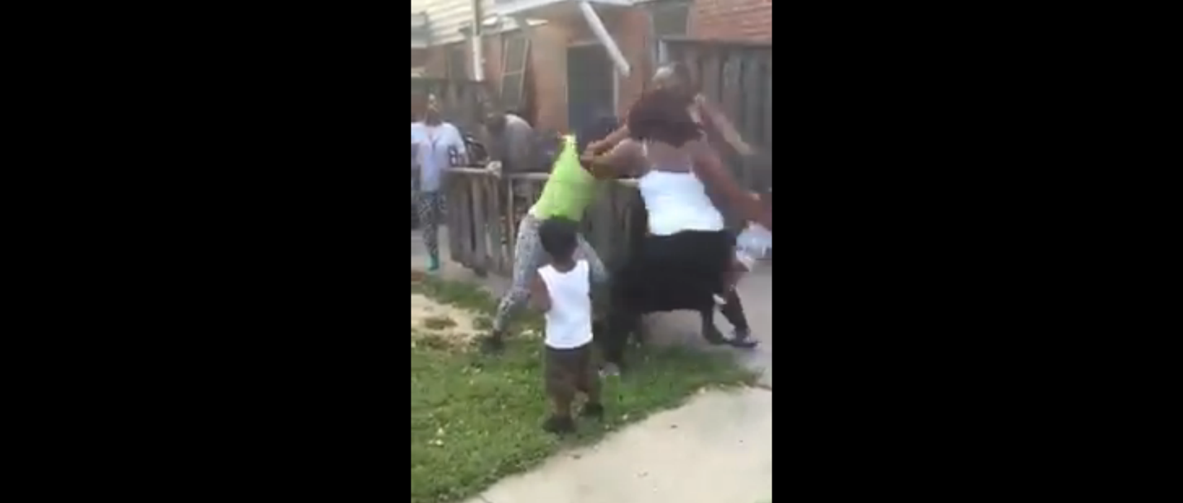 Shocking Video... Woman Drops Her Baby On Concrete During Fight
