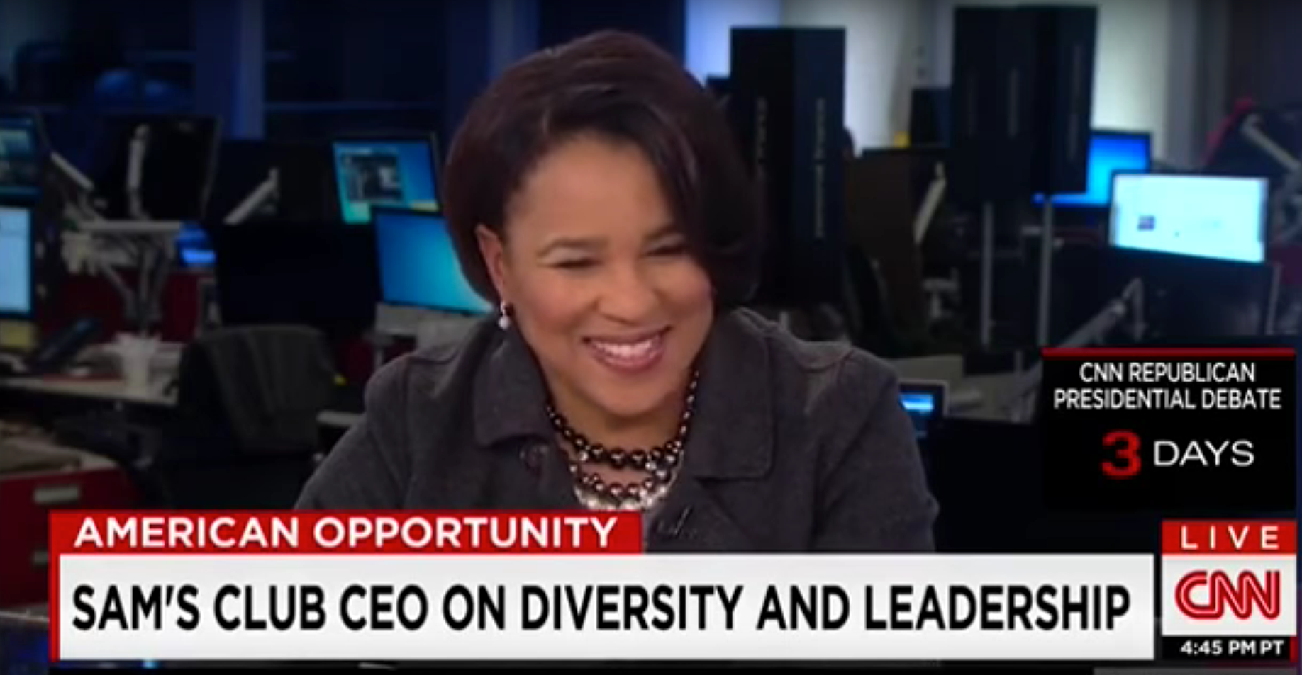 CEO of Sam's Club is upset she had to meet with white men (Video)