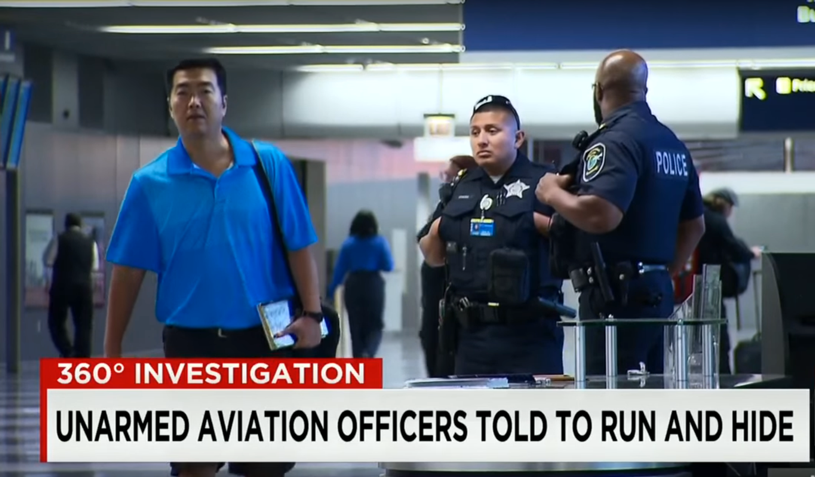 US Airport Police Trained to Run and Hide in Active Shooter Situations