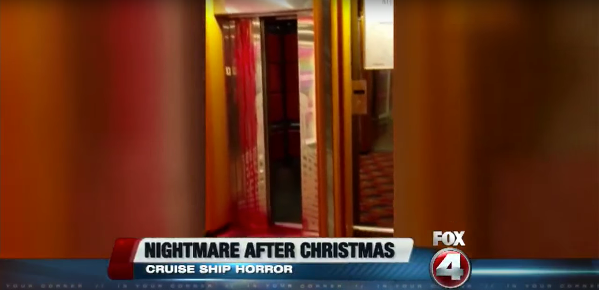 Nightmare After Christmas: Cruise Ship Horror as couple shows video of 'bloody mystery' on Carnival Cruise ship (VIDEO)