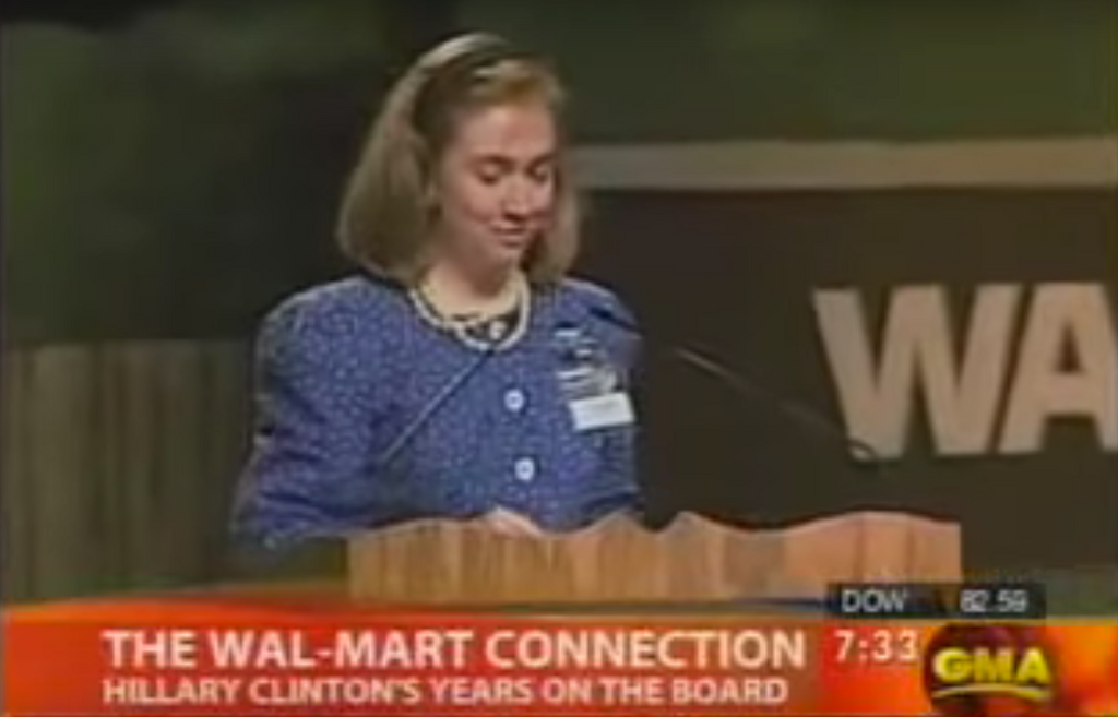 Hillary Clinton served on Walmart's Board of Directors for six years