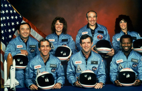 Space Shuttle Challenger Crew Photo 1986 NASA