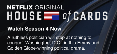 You can now stream House of Cards Season 4 on Netflix