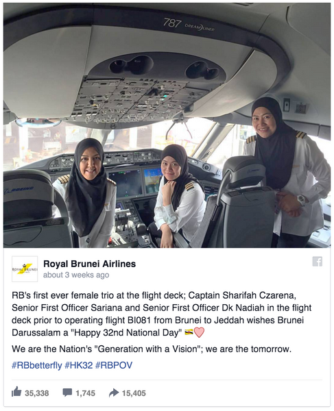 Female pilots land plane in country they can't drive in