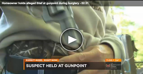 Homeowner Holds Thief At Gunpoint During Burglary