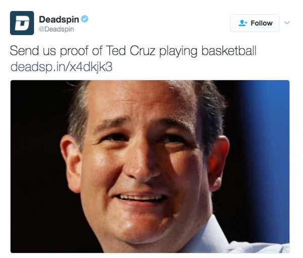 Send us proof of Ted Cruz playing basketball