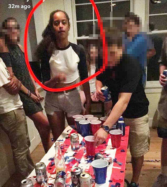 Snapchat Photos Allegedly Show 18-Year-Old First Daughter Malia Obama Playing Beer Pong in Maryland