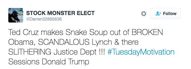 Ted Cruz makes Snake Soup out of BROKEN Obama, SCANDALOUS Lynch & there SLITHERING Justice Dept