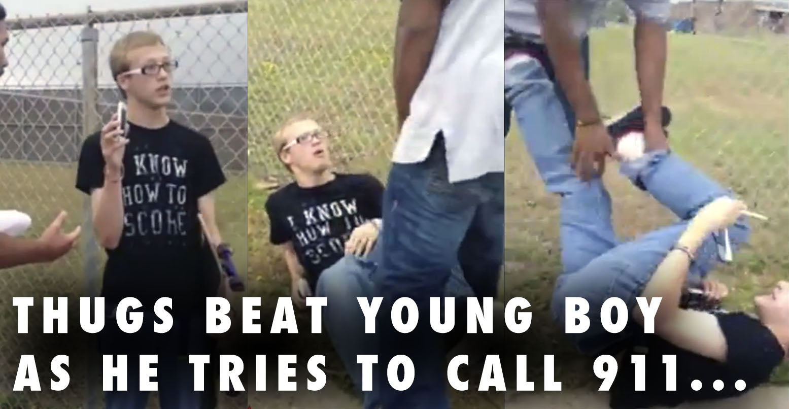 VIDEO: Young Boy Beat Up While He Tries To Call 911