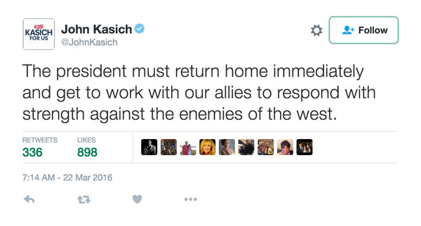 Kasich Blasts President Obama For Baseball Game In Cuba During Brussels Terror Crisis