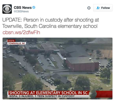 UPDATE: Person in custody after shooting at Townville, South Carolina elementary school
