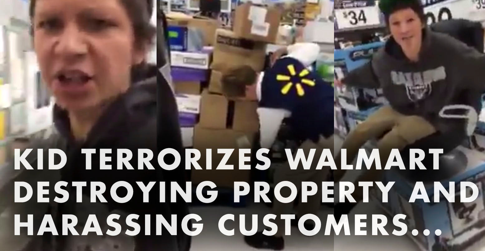 VIDEO: Kid Terrorizes Walmart, Destroys Property, Harasses Customers