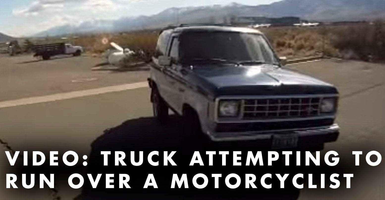 VIDEO: Truck Tries To Run Over Motorcyclist Multiple Times