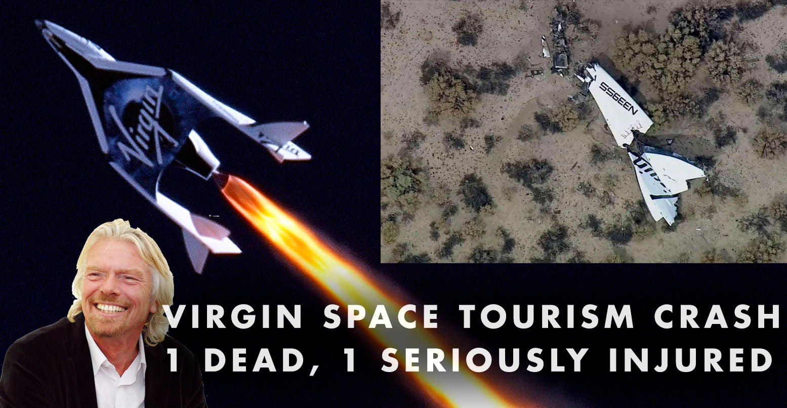 VIDEO: VIRGIN GALACTIC SPACE CRASH IN MOJAVE