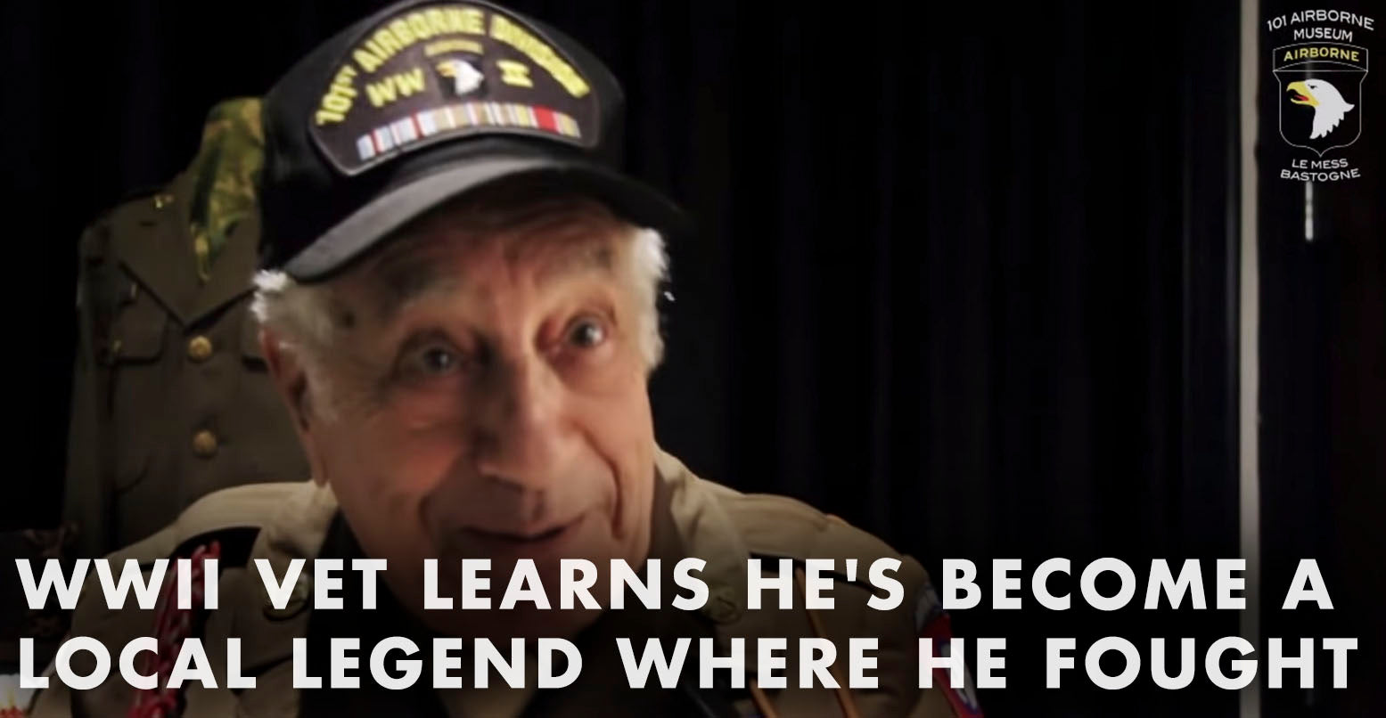 VIDEO: WWII Vet Learns He's A Local Legend In The Town Where He Fought