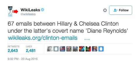 Why was Hillary Clinton communicating with her daughter Chelsea via email using a fake name?