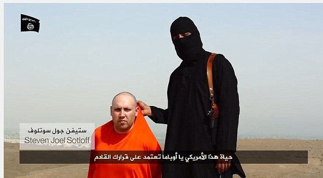 Islamic militants made claims in a video released Tuesday that there were holding U.S. journalist Steven Sotloff and said his life depended on U.S. President Barack Obama's next move.