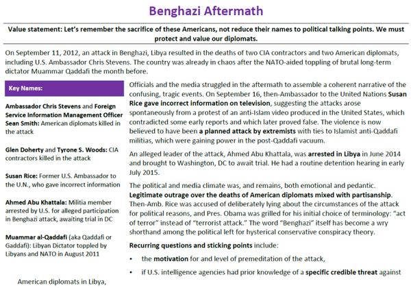 Framework One Pager_Benghazi