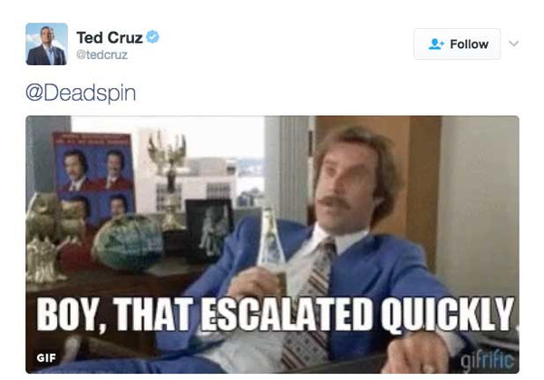 Boy that escalated quickly ted cruz deadspin meme
