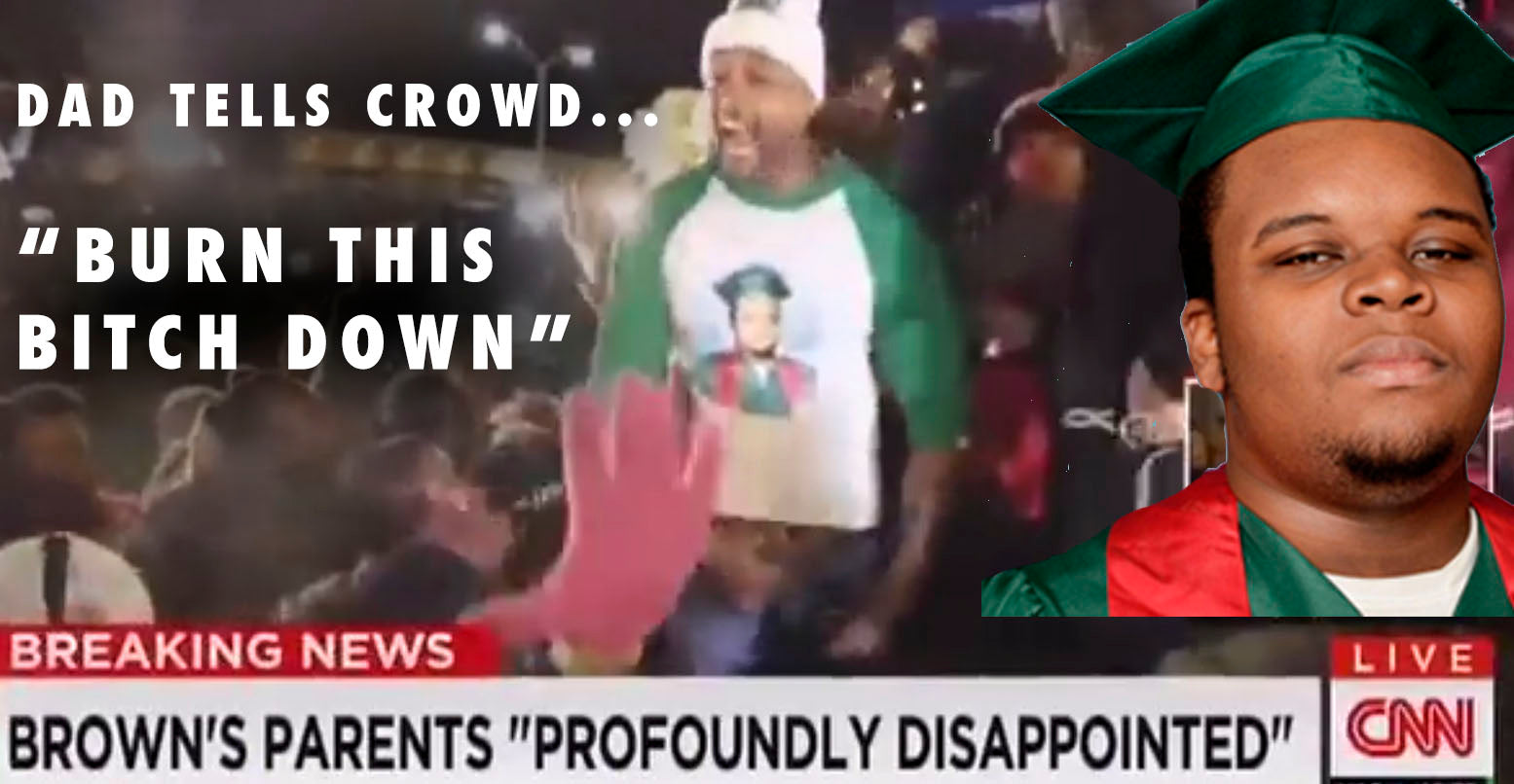 VIDEO: Michael Brown's Stepfather Tells Crowd, 'Burn This Bitch Down'