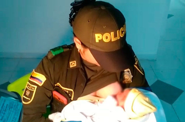 A Police Officer Saved This Abandoned Baby By Breastfeeding It (Video)