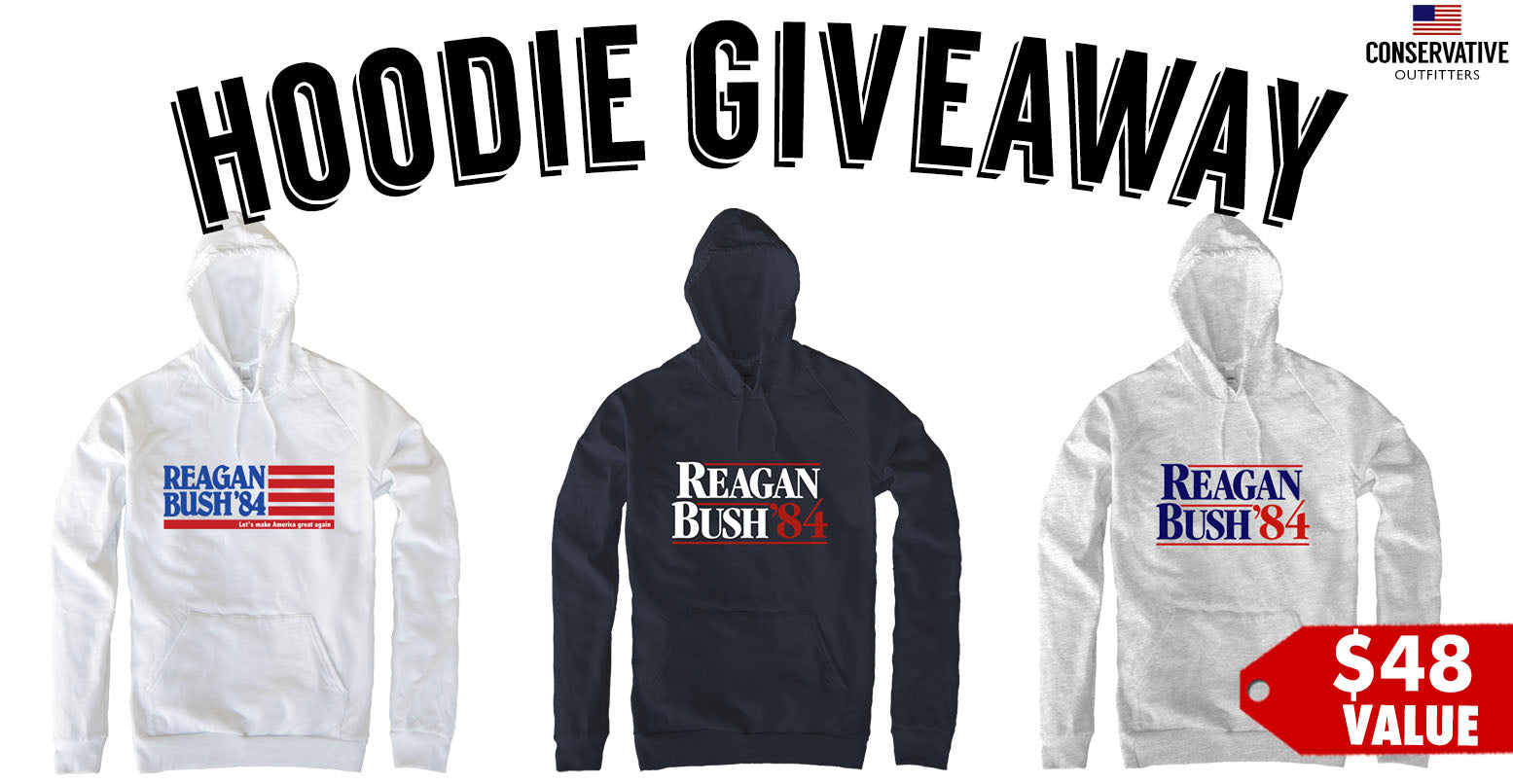 FREE 1984 Ronald Reagan Hoodies