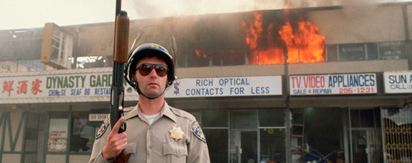 FLASHBACK: Store Owner Confronts LA Rioters Burning Business (VIDEO) 1992