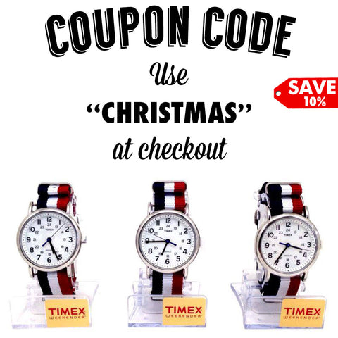 Red White Blue Watch Discount Coupon Code Timex