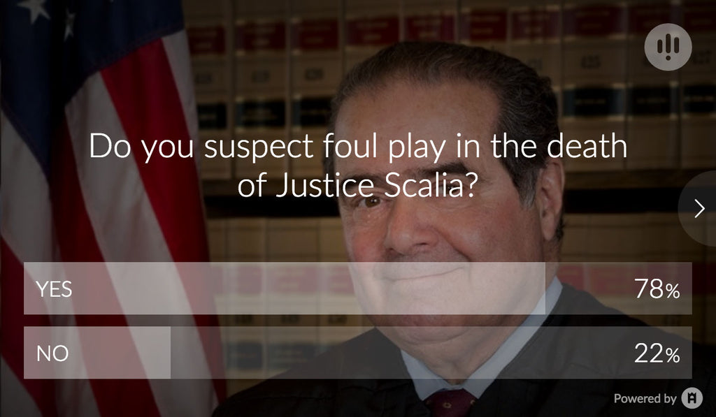 46,422 People Think Scalia's Death Result of Foul Play