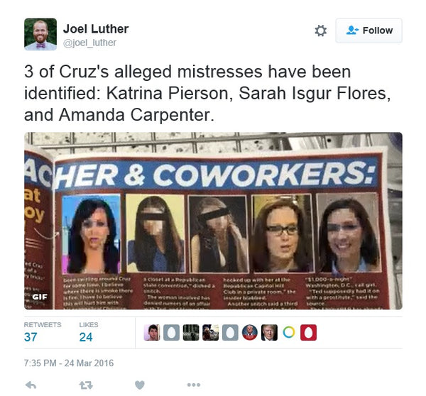 Ted Cruz Sex Scandal Katrina Pierson, Sarah Isgur Flores, Amanda Carpenter
