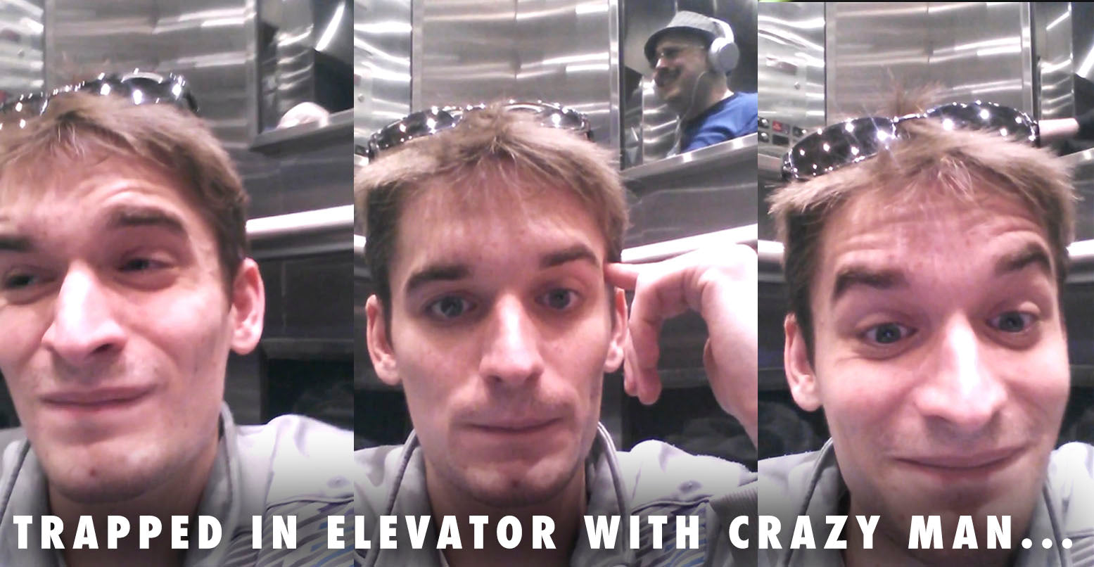 VIDEO: Guy Trapped In Elevator With Crazy Man Starts Filming Incident