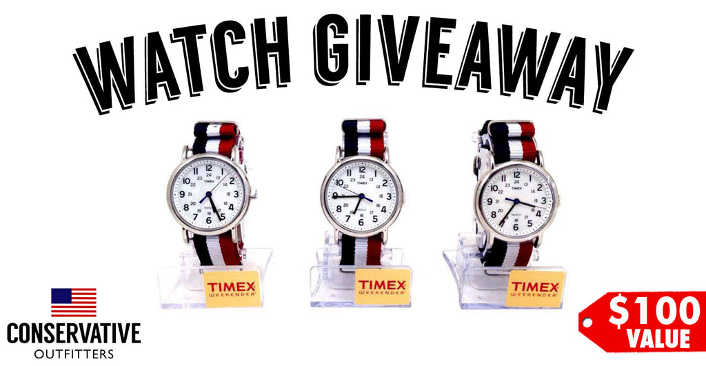 Win A FREE Custom Red White and Blue Timex Watch from Conservative Outfitters