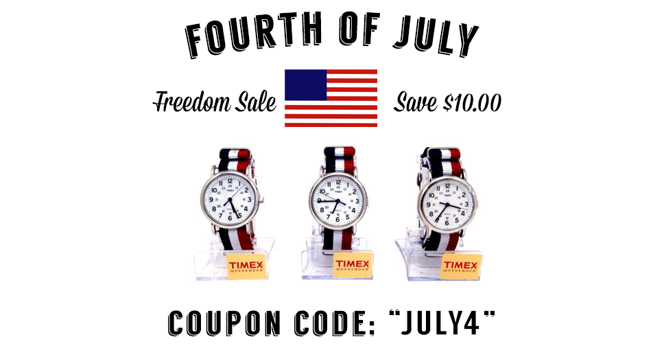 July 4th RED, WHITE, BLUE Watch SALE! - Conservative Outfitters - Independence DAY