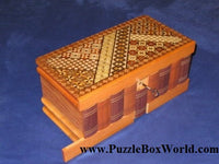 HUGE 10 Sun Ruiji  Yosegi Japanese Puzzle Box