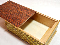 12 Sun 28 Step Red Saya-Matsukawabishi Japanese Puzzle Box by Mr. Yamanaka