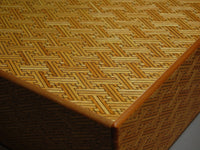 12 Sun 4 Step Red Saya-Yellow Japanese Puzzle Box by Mr. Yamanaka