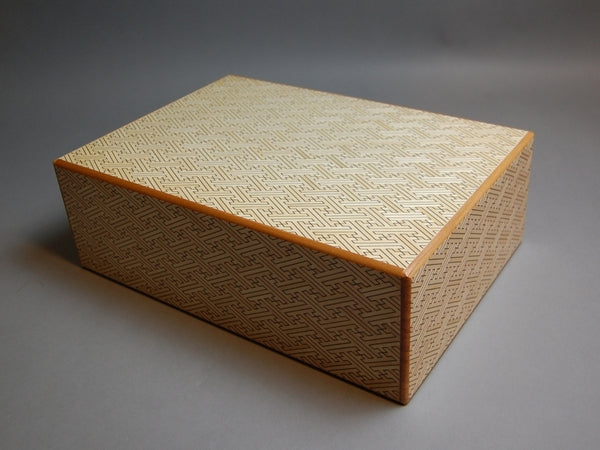 12 Sun 4 Step White Saya Japanese Puzzle Box by Mr. Yamanaka