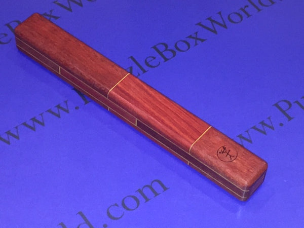 #13 Chopsticks Puzzle Box (Bloodwood & Redheart) by Robert Yarger (Stickman Puzzles)