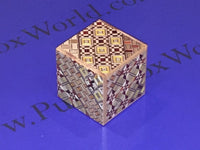 2 Sun 12 Step Yosegi Cubic Japanese Puzzle Box