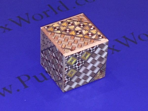 2 Sun 4 Step Yosegi Cubic Japanese Puzzle Box