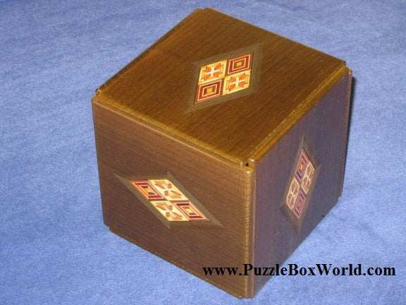324 Step Yosegi Zougan Super Cubi Japanese Puzzle Box