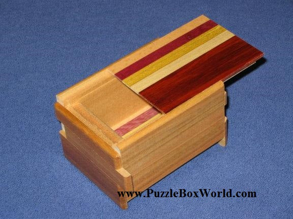 3 Sun 12 Step Natural Wood Japanese Puzzle Box (Kusu Version)