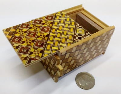 3 Sun 12 Step Yosegi Kuzushi Japanese Puzzle Box