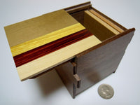 3 Sun 14 Step Natural Wood Cubic Japanese Puzzle Box