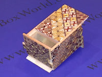 3 Sun 18 Step Yosegi Japanese Puzzle Box